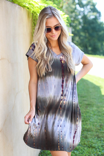 Olive - Tie-Dye Swing Dress