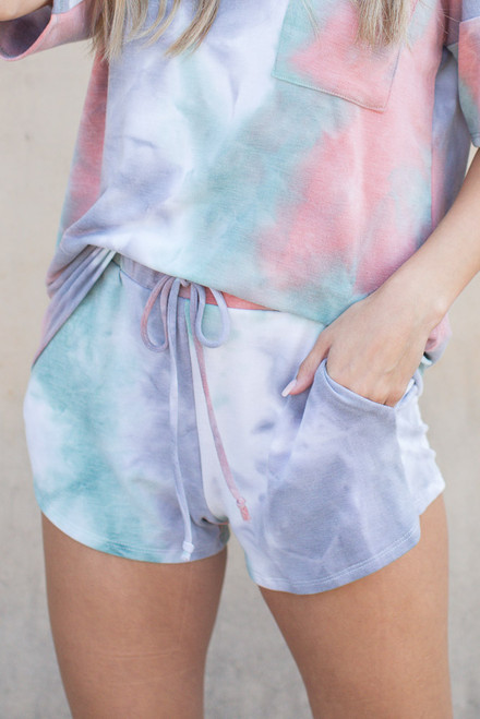 Multi - Tie-Dye Lounge Shorts