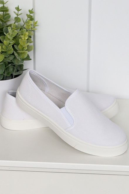 White - Slip-On Sneakers