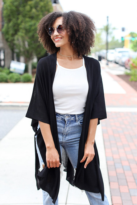 Black - Lightweight Knit Cardigan from Dress Up