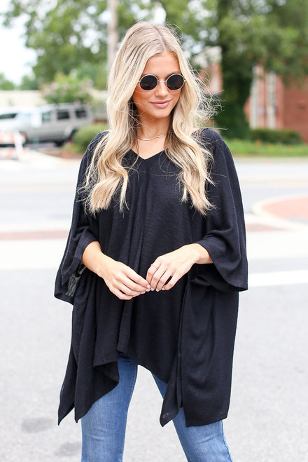 Black - Oversized Tunic