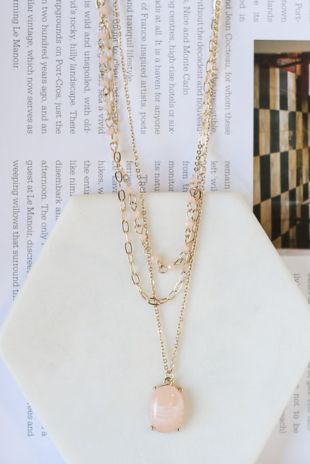 Blush - Layered Pendant Necklace