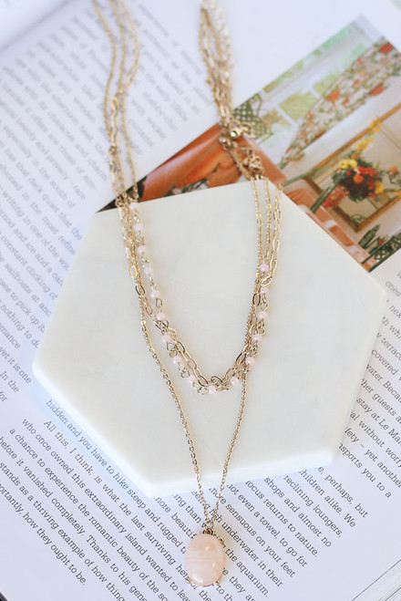Blush - Layered Pendant Necklace from Dress Up