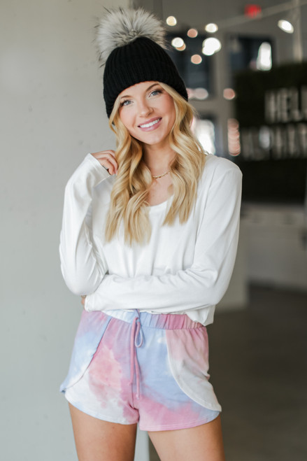 Pink - Tie-Dye Lounge Shorts from Dress Up