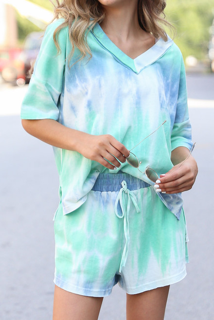 Mint - Tie-Dye Lounge Shorts