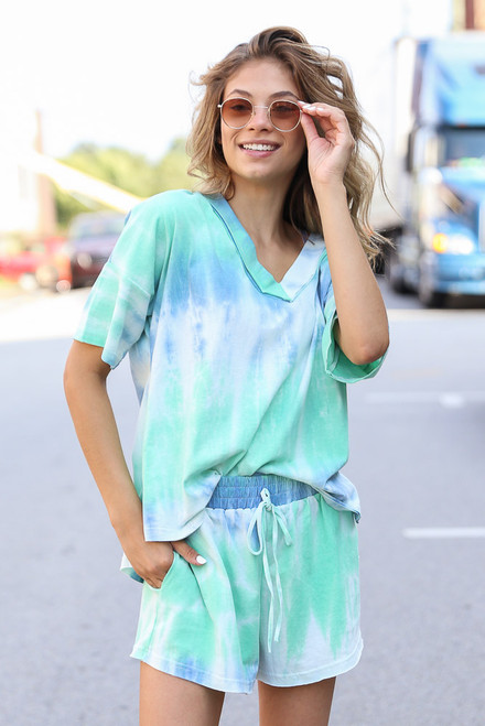 Mint - Tie-Dye Lounge Shorts from Dress Up