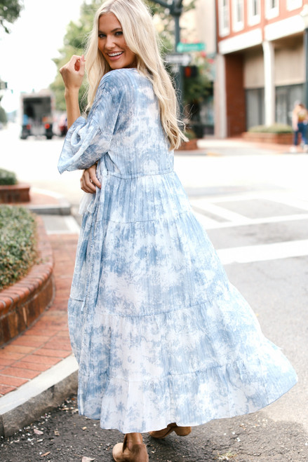 Denim - Tie-Dye Maxi Kimono from Dress Up