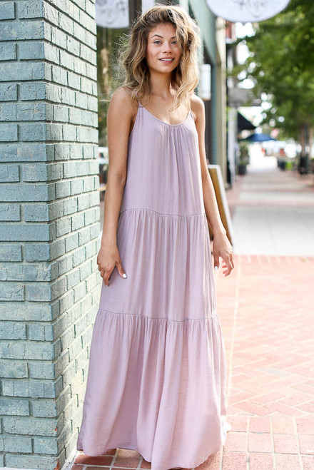 Mauve - Tiered Maxi Dress