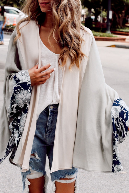 Sage - Floral Kimono from Dress Up
