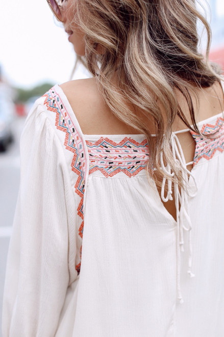 Ivory - Embroidered Dress