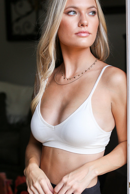 White - Padded Bralette from Dress Up