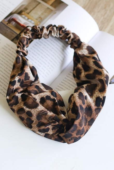 Brown - Knotted Headband from Dress Up