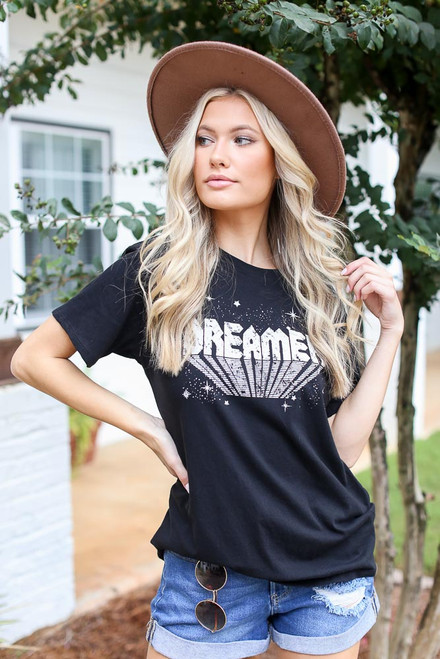 Black - Oversized Graphic Tee from Dress Up