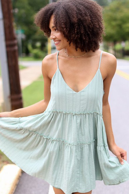 Sage - Textured Tiered Dress from Dress Up
