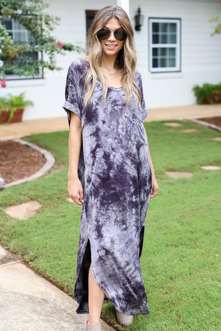 Black - Tie-Dye Maxi Dress