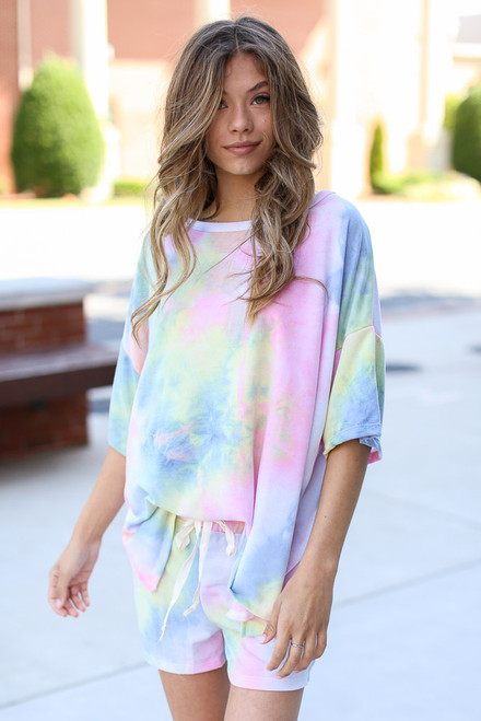 Multi - Oversized Tie-Dye Top