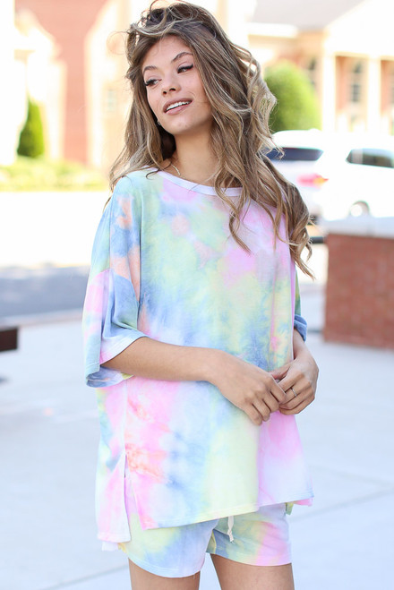 Multi - Oversized Tie-Dye Top from Dress Up