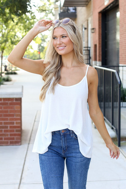 White - Textured Tank from Dress Up