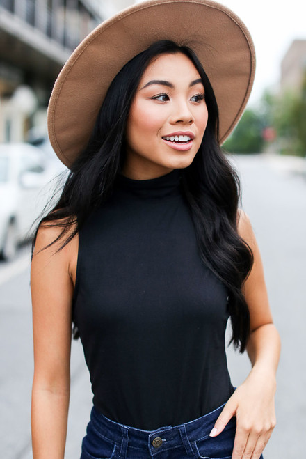 Black - Mock Neck Bodysuit
