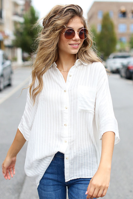 Ivory - Oversized Blouse