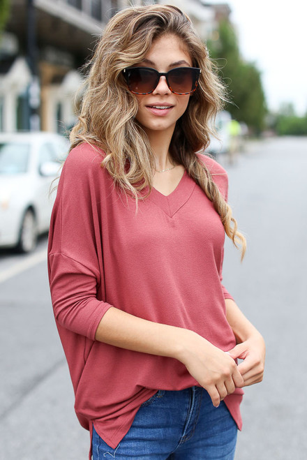 Marsala - Oversized Top