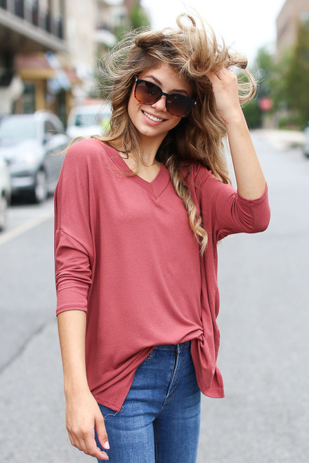 Marsala - Oversized Top from Dress Up