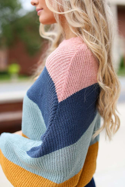Multi - Oversized Striped Sweater from Dress Up