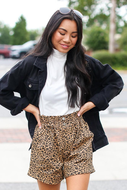 Leopard - Paperbag Waist Shorts from Dress Up