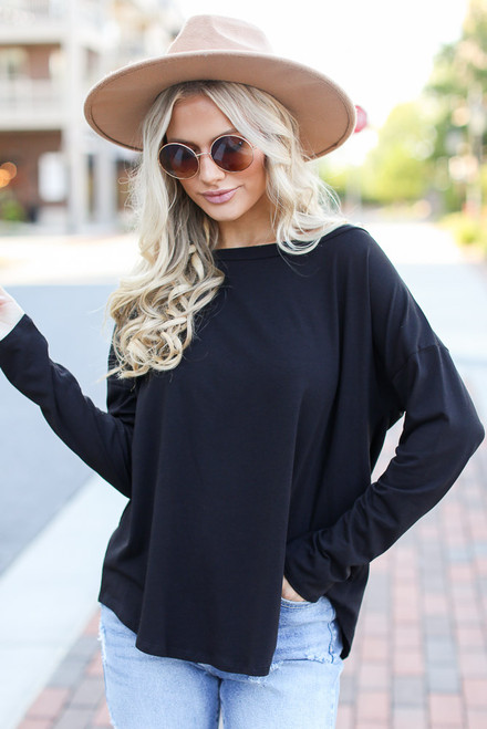Black - Basic Oversized Tee