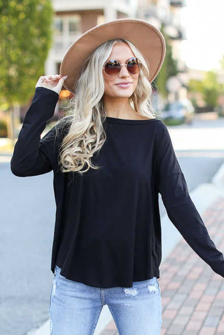 Black - Basic Oversized Tee from Dress Up