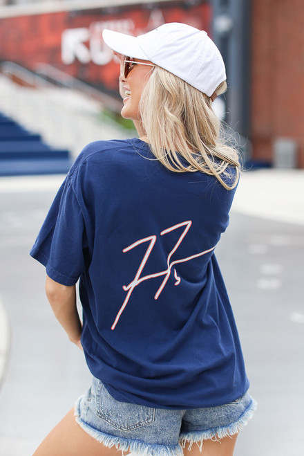 Navy - Freddie Autograph Tee Back View