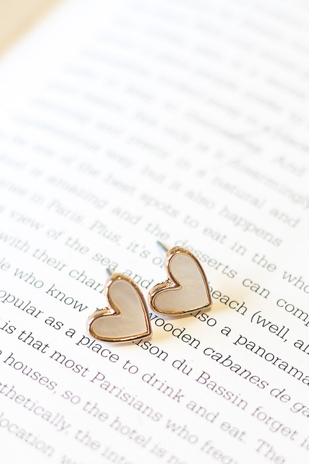 White - Star + Heart Stud Earring Set from Dress Up