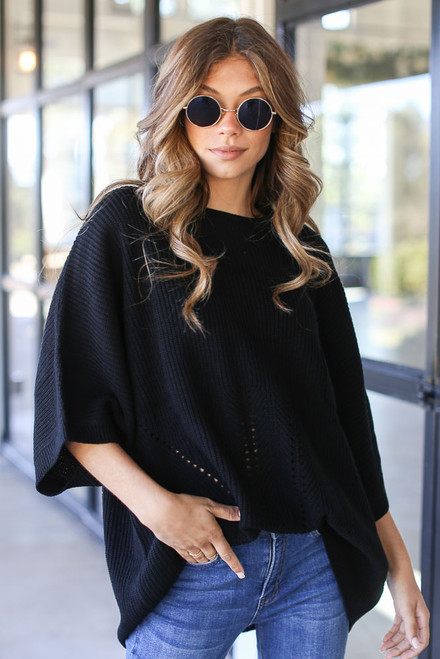 Black - Oversized Sweater
