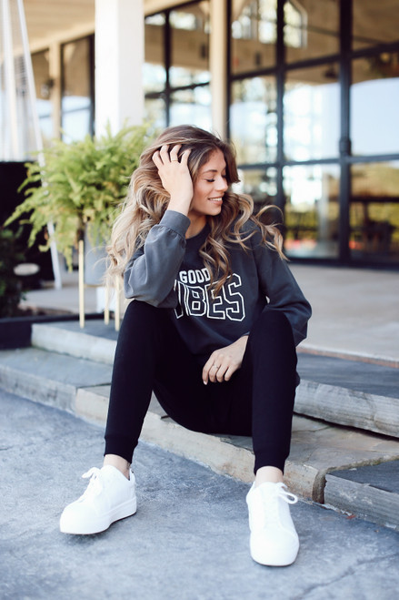 Charcoal - Good Vibes Pullover from Dress Up