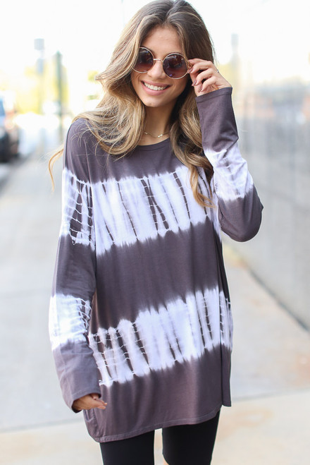 Charcoal - Oversized Tie-Dye Top from Dress Up