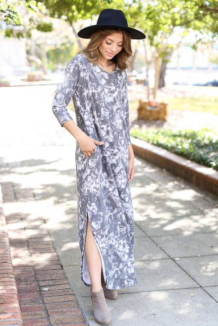 Charcoal - Tie-Dye Maxi Dress from Dress Up