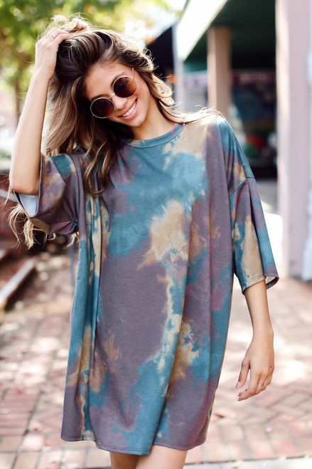 Olive - Tie-Dye T-Shirt Dress from Dress Up