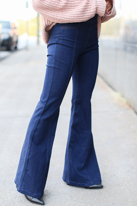Dark Wash - High-Rise Flare Jeans from Dress Up