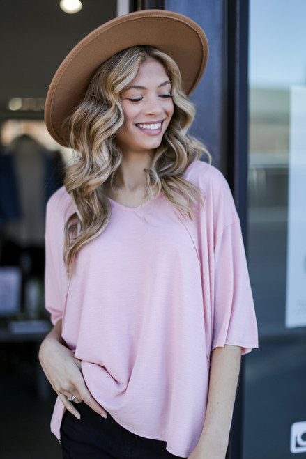 Blush - Oversized Top