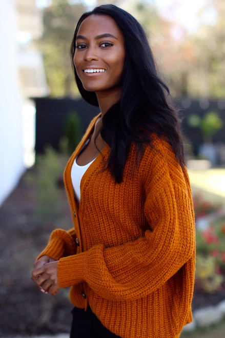 Rust - Sweater Cardigan from Dress Up