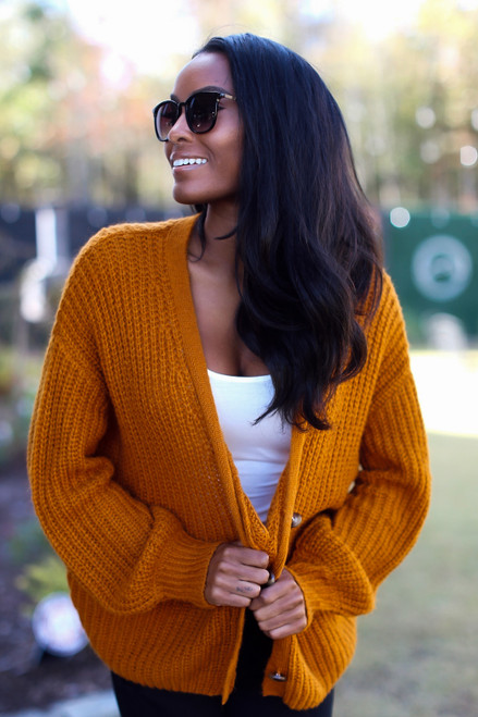 Rust - Sweater Cardigan