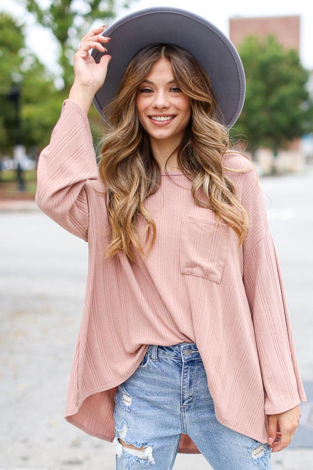 Blush - Oversized Knit Top from Dress Up