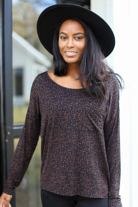 Leopard - Oversized Front Pocket Tee from Dress Up