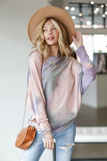 Blush - Oversized Tie-Dye Tunic