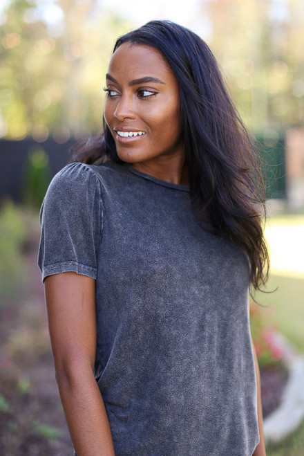 Black - Acid Washed Tee from Dress Up