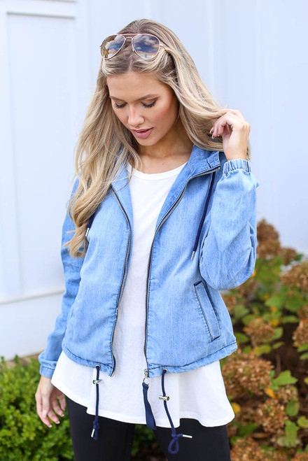 Light Wash - Hooded Denim Jacket from Dress Up