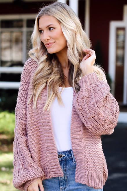 Blush -  Dress Up model wearing a Sweater Cardigan