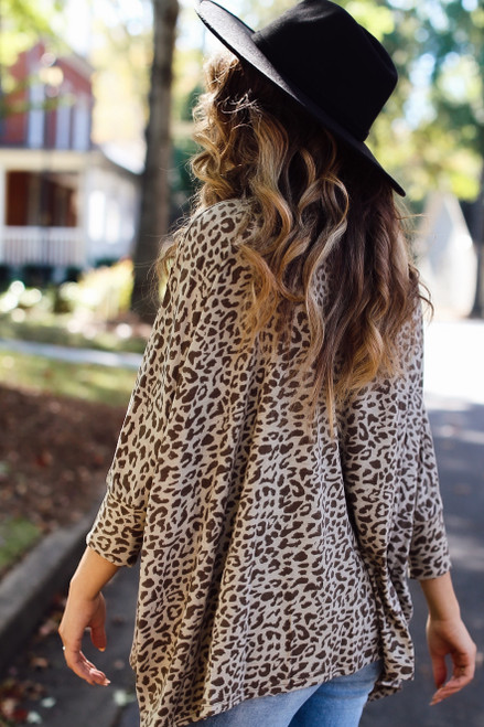 Taupe - Oversized Leopard Top from Dress Up