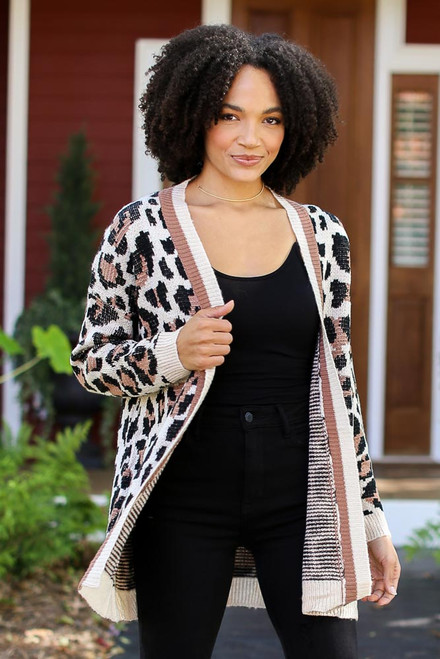 Leopard - Sweater Cardigan