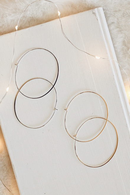 Gold - Oval Hoop Earrings